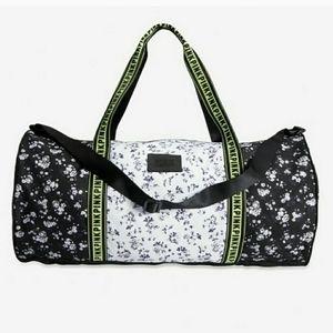 NWT VS Pink Floral Duffle Bag